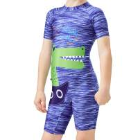 Karrack Kid One Piece Rash Guard Swimsuit Water Sport Short Swimsuit UPF 50+ Sun Protection Bathing Suits for Boy