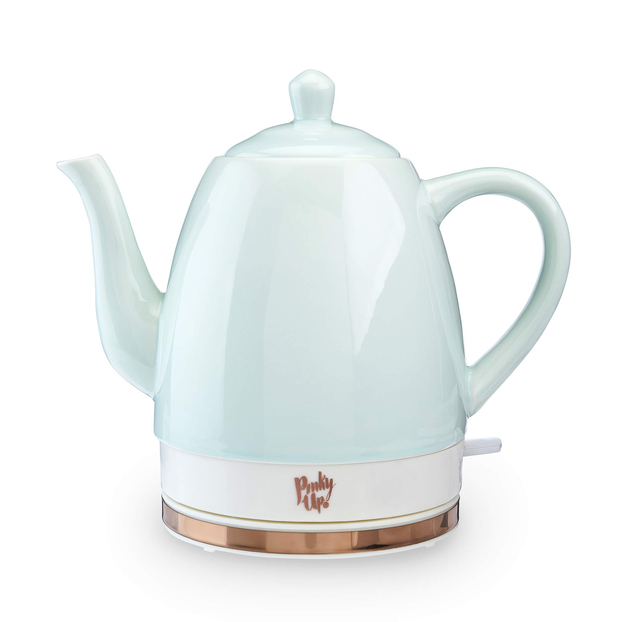 Pinky Up Nooelle Ceramic, Coffee, and Glassware Electric Tea Kettle, One Size, Light Green