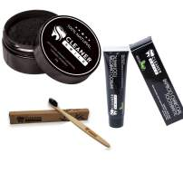 Cleaner Smile | Charcoal Dental Bundle | Toothpaste, Toothbrush, and Powder