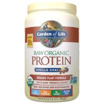 Garden of Life Raw Organic Protein Vanilla Chai Powder, 20 Servings *Packaging May Vary* Certified Vegan, Gluten Free, Organic, Non-GMO, Plant Based Sugar Free Protein Shake with Probiotics & Enzymes