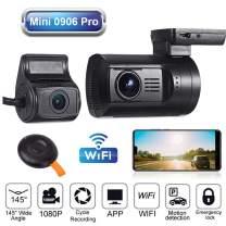 Blueskysea Mini 0906 PRO Dual Lens 1080P Dash Cam Front and Rear Dash Camera WiFi GPS Car Camera Recorder Sony IMX327 Loop Recording Night Vision