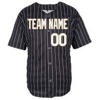 Pullonsy Pinstriped Custom Baseball Jersey for Men Women Youth Full Button Sewn Your Name & Numbers S-8XL - Make Your Design