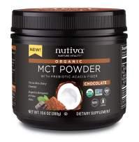 Nutiva Organic MCT Powder, Chocolate, 10.6 Ounce
