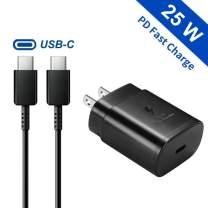 Samsung 25W PD USB-C Super Fast Charging Wall Charger for Samsung Galaxy Note10/ 10+/ S20/ S10 5G Model, 2018 iPad Pro 11/12.9, Galaxy S10/ S9/ S8/ Plus, Google Pixel 4/ 4XL/ 3/ 3XL/ 3a/ 2/ 2XL and Mo