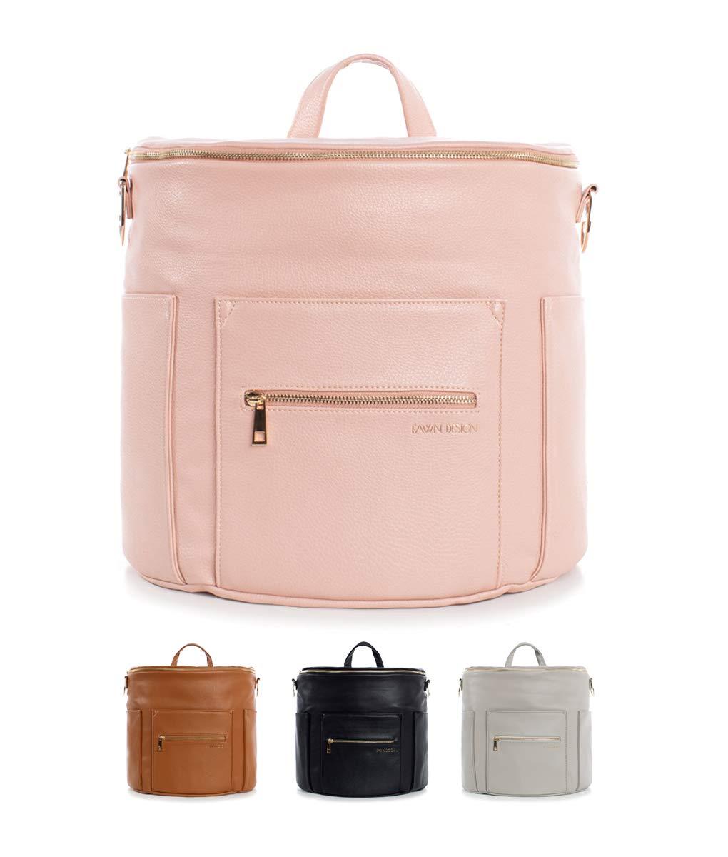 Fawn Design Premium Vegan Leather Diaper Bag and Backpack (Blush 2.0)