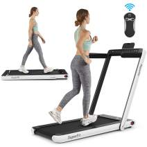 ANCHEER Under Desk Treadmill 2.25HP,Indoor Folding Running Machine for Home Exercise,2 in1 Electric Exercise Treadmillwith Remote Control/&Digital Monitor/&Bluetooth Speaker.