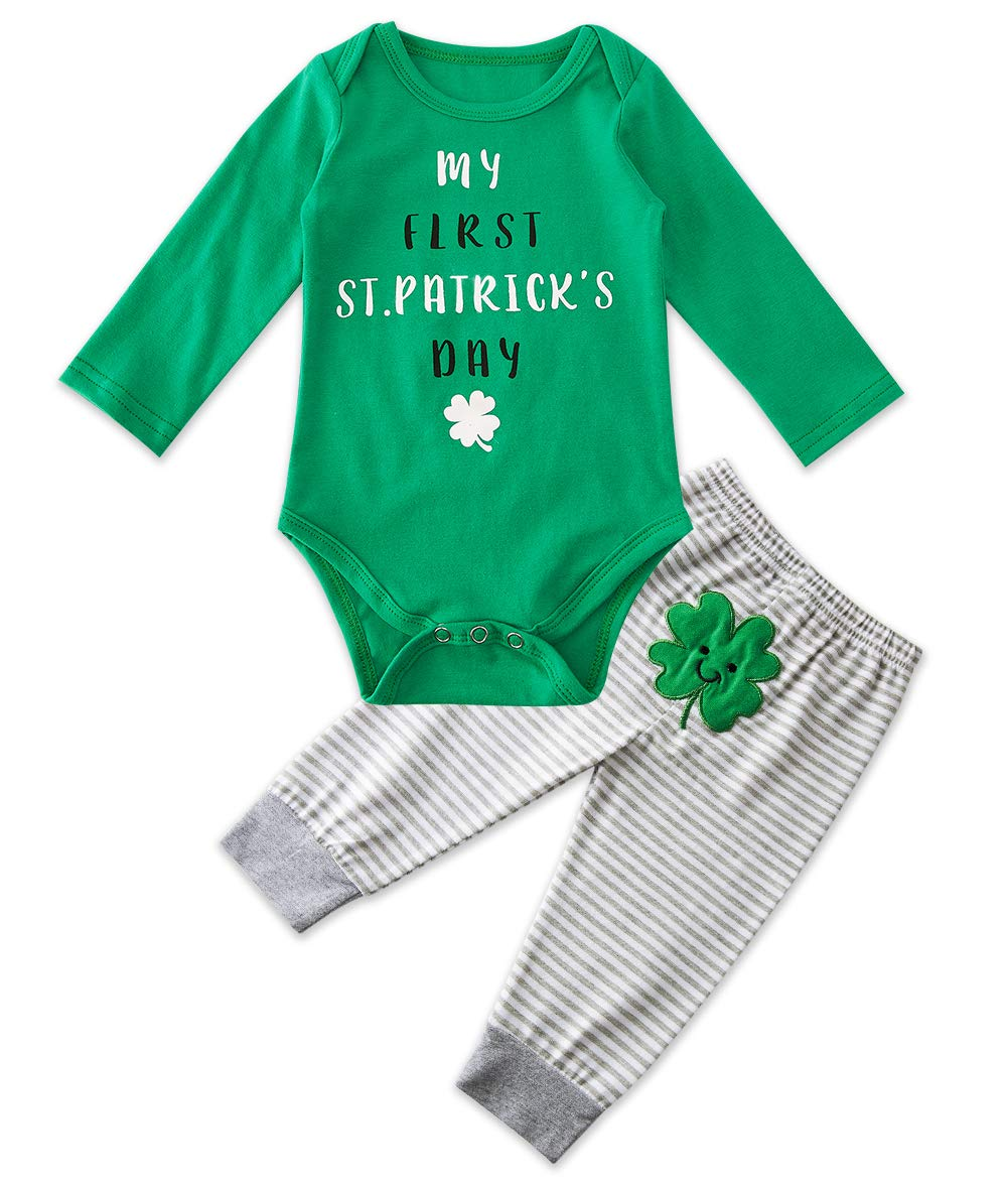 BFUSTYLE Baby Newborn My 1st Christmas Outfits Infant Funny Letter Rompers Home Soft Pajama Set 0-18 Months