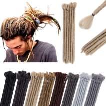 "12"" Dreadlock Extension For Man Handmade Synthetic Reggae Extension Twist Braiding Hairpiece For Hip-Hop Crochet Braiding Hair Heat Resistant Box Braid For Women(5strands/1pack,ash blonde)"