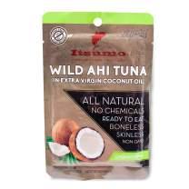 Tuna Keto Snacks - No Carbs Wild Ahi Tuna in Coconut Oil (Pack of 1)