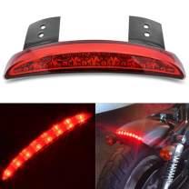 KaTur Motorcycle 8 LED Stop Chopped Fender Edge Running Brake Rear Tail Light for Harley Sportster XL 883N 1200N XL1200V XL1200X Red Light