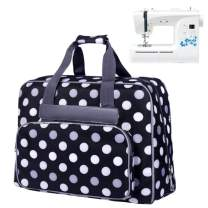 YEQIN Sewing Machine Tote Bag, Universal Portable Sewing Machine Carrying Case Compatible with Most Standard Singer, Brother, Janome Sewing Machine and Accessories (Black)