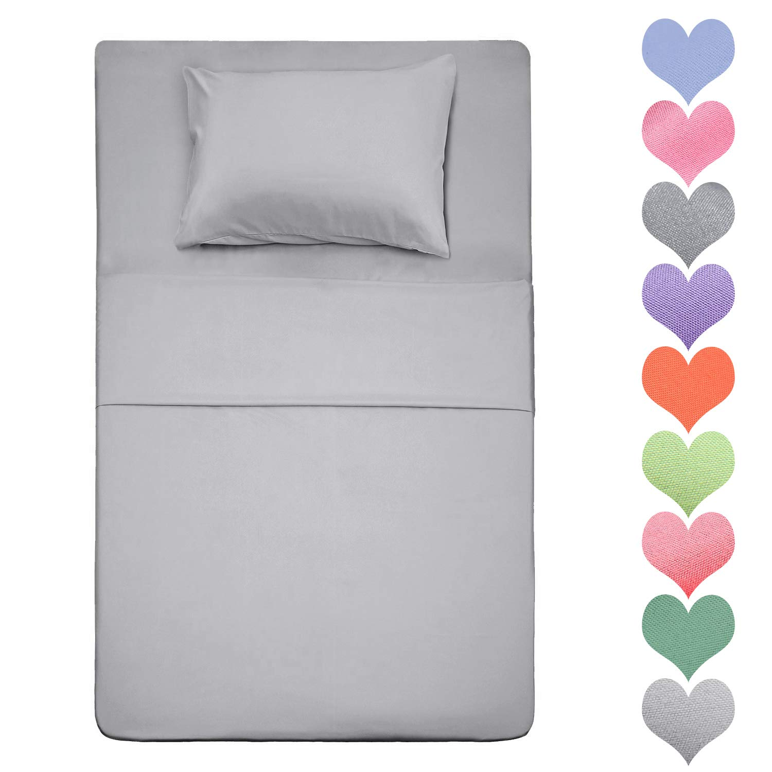 Best Season 400 Thread Count Cotton Twin Size Sheet Set (Silver Gray Color) 3 Piece - 100% Long Staple Cotton Sheets Set, Soft Cotton Bed Sheets Sets with Deep Pocket fit Up to 16 inch