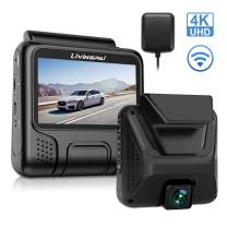 """4K Dash Cam Built-in WiFi GPS Car Dashboard Camera Recorder with UHD 2880x2160P,Night Vision,3.0"""" IPS Screen,170° Wide Angle, Parking Mode,WDR,Loop Recording,G-Sensor for Cars,Truck.Support 128GB Max"""