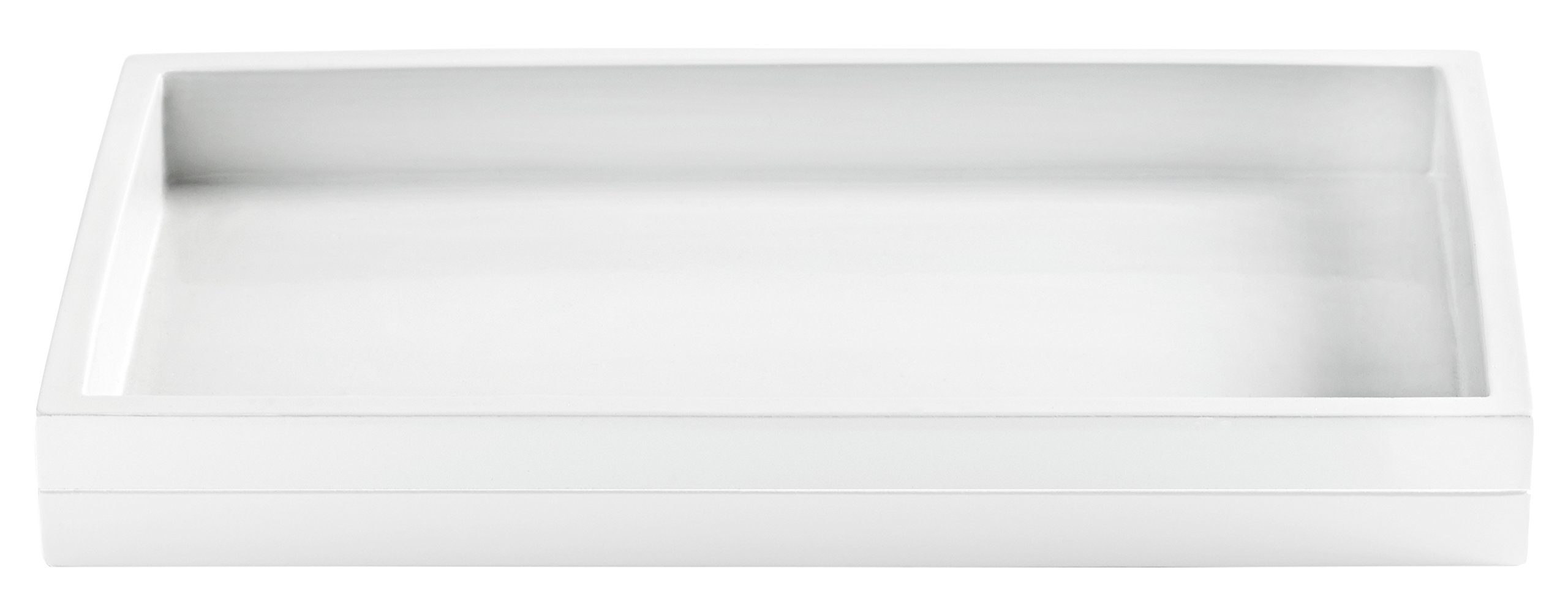 Kassatex Fine Linens Cabana Accessories Tray White