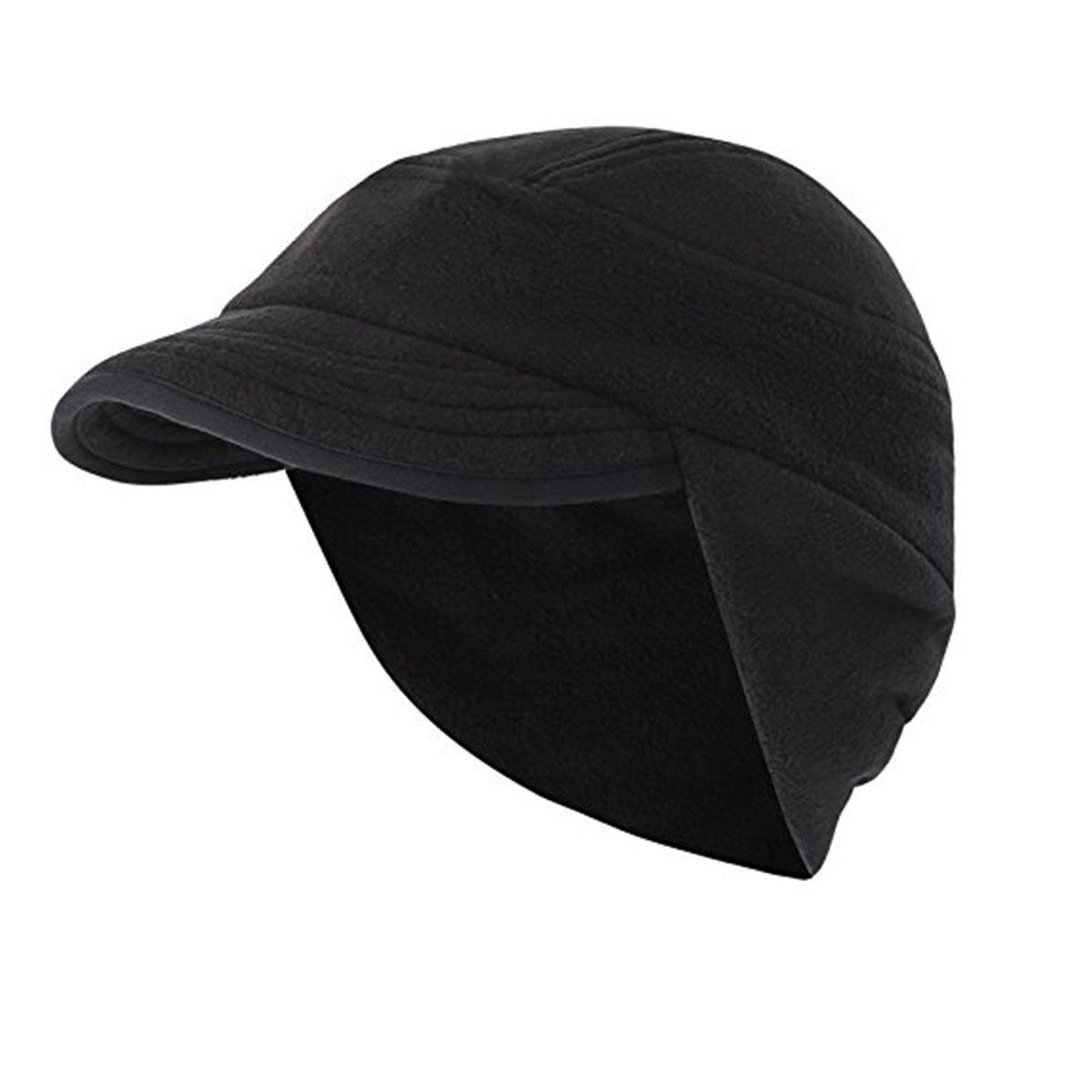 Surblue Winter Earflap Hat Skull Cap Outdoor Warm Windproof Fleece with Visor