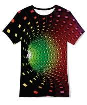 Idgreatim Boys Girls Casual T Shirt 3D Graphic Crewneck Short Sleeve Tops Tees 6-14 Years