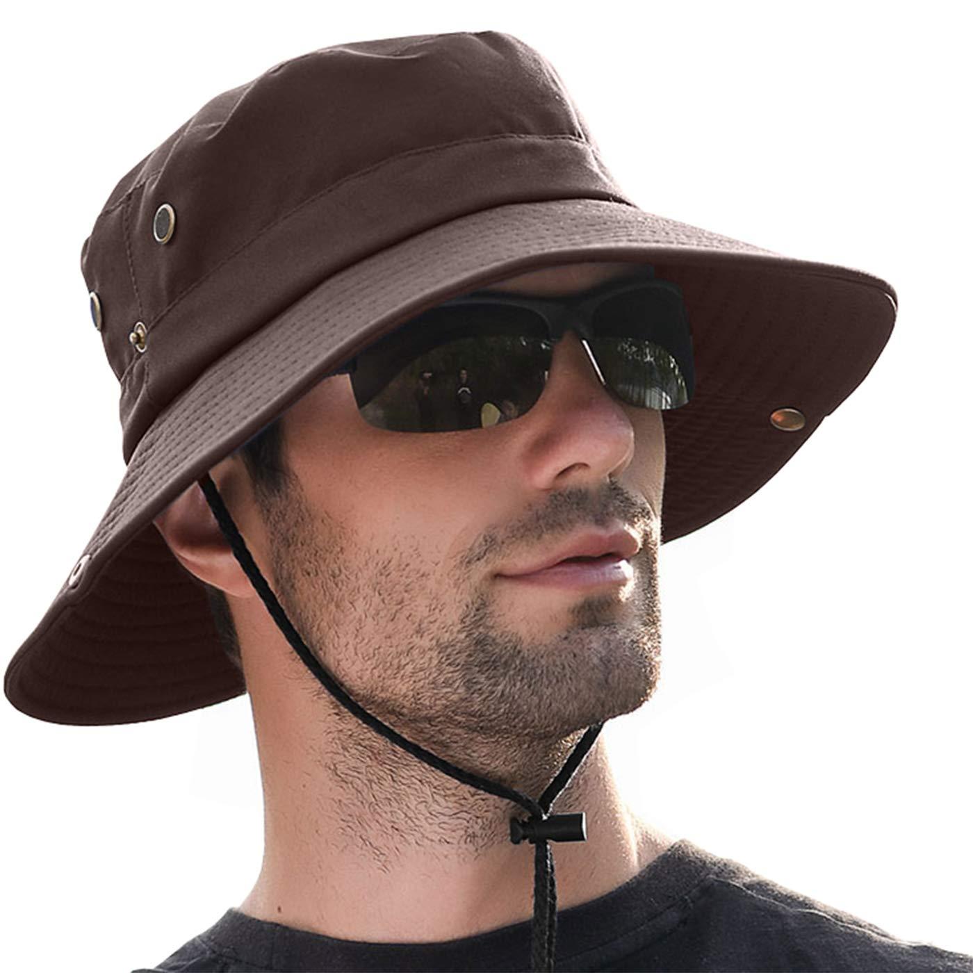 LCZTN Boonie Sun Hat for Men UPF 50+ UV Protection Wide Brim Fishing Cap