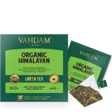 Organic Green Tea from the Himalayas - 100 TEA BAGS - Natural Detox Tea, Weight Loss Tea, Slimming Tea | POWERFUL ANTI-OXIDANTS | Long Leaf Green Tea Bags | Brew Hot or Iced | 100 Count Per Box