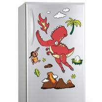 D-FantiX Jointed Fun Dinosaur Refrigerator Magnets, Cute Movable 3D Tyrannosaurus Rex Fridge Magnets for Toddlers Kids DIY Strong Magnet Set for Lockers Kitchen Office Magnetic Educational Toy Gift