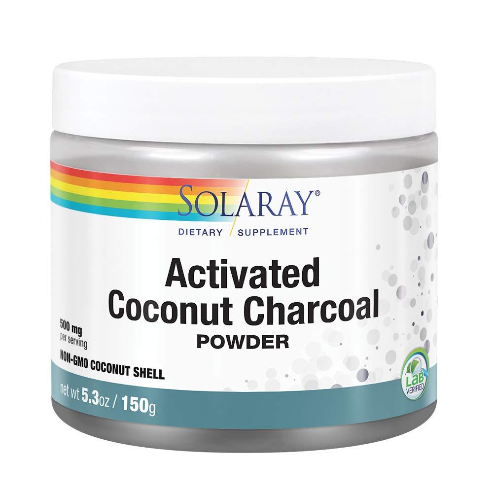 Solaray Activated Coconut Charcoal Powder | Non-GMO Coconut Shell | 150g