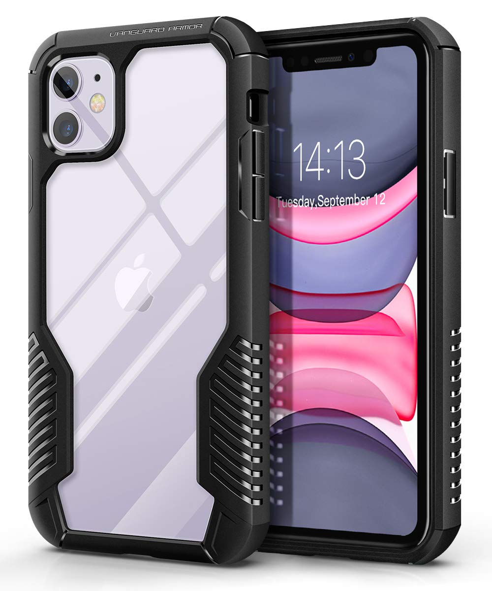 MOBOSI Vanguard Armor Designed for iPhone 11 Case, Rugged Cell Phone Cases, Heavy Duty Military Grade Shockproof Drop Protection Cover for iPhone 11 6.1 Inch 2019 (Matte Black)