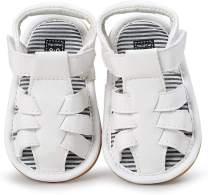 Baby Toddler Girls Boys Sandals Infant Summer Beach Flat Shoes, Premium Soft Anti-Slip Rubber Sole Prewalker First Walker Baby Crib Shoes Fishman Sandals for Infant Toddler Girls Boys 0-18Months