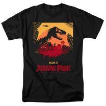 Jurassic Park Welcome Poster T Rex T Shirt