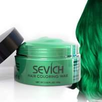 Color Hair Wax - Sevich Hair Style Dye Mud, Instantly Natural Hair Color, Natural Ingredients Washable, Temporary 100g/3.57Oz Green