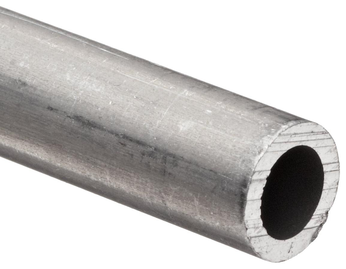 """Aluminum 6101-T61 Extruded Pipe Schedule 40 1.5"""" Nominal, 1.7"""" ID, 1.9"""" OD, 0.1"""" Wall, 24"""" Length"""