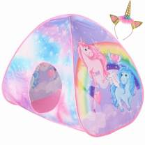 Play10 Ball Pit Unicorn Pop up Play Tent Dreamy Ball Pen for Kids