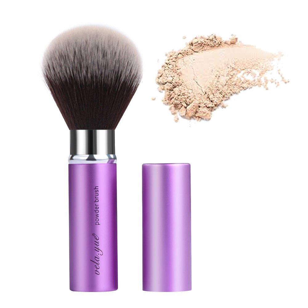 Retractable Face Kabuki Brush Round Powder Makeup Brushes