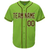 Pullonsy Light Green Custom Baseball Jersey for Men Women Youth Embroidered Letters S-8XL - Design Your Own