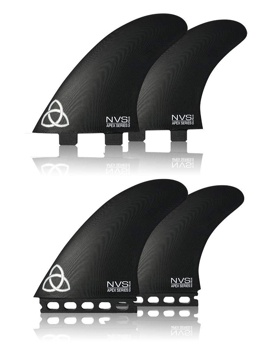 Naked Viking Surf Nautilus Twin Fin + Stabilizer (Set of 3) Apex Series FCS & Futures Base
