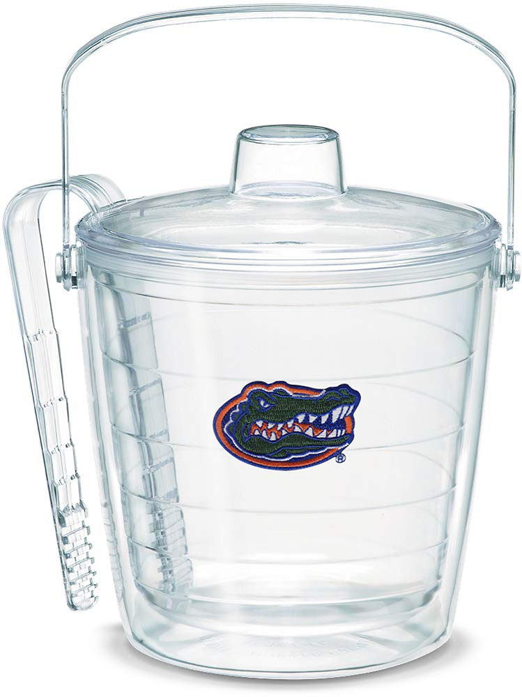 Tervis 1007645 Florida Gators Gator Ice Bucket with Emblem and Clear Lid 87oz Ice Bucket, Clear