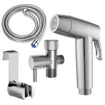 HOXIYA Hand held Two Water Outlet Modes Bidet Toilet Sprayer, Baby Cloth Diaper Sprayer by Toilet Tank Mounted,Handheld Bidet Sprayer for Toilet