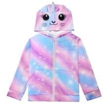 Nidoul 3D Unicorn Rainbow Hoodies Jacket for Girls Cartoon Costumes Sweatshirt