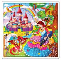 Wooden Jigsaw Puzzles for Kids Ages 4-8, 3 Pack Puzzles, Children Toddlers Games , Almost 100 Pieces Set, Educational Wood Toys for Boys and Girls 3-5 Year Olds (Girls)