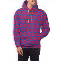 TMVFPYR Phish Circles Men's Light Long Sleeve Pullover Graphic Hoodie Sport Sweatshirt with Designs Blue/Red