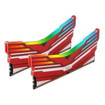 OLOy DDR4 RAM 16GB (2x8GB) Warhawk Aura Sync RGB 3200 MHz CL16 1.35V 288-Pin Desktop Gaming UDIMM (MD4U0832160BC0DA)