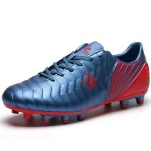 Saekeke Soccer Shoes Kids Boys FG Cleats/TF Professional Training Football Shoes