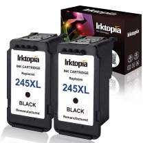 Inktopia Remanufactured for Canon PG-245XL Ink Cartridges (2 Black) Shows Accurate Ink Level Used in Canon PIXMA MG2520 MG2920 MG2922 MG2924 MG2420 MG3020 MG2555 MX490 MX492 Printer