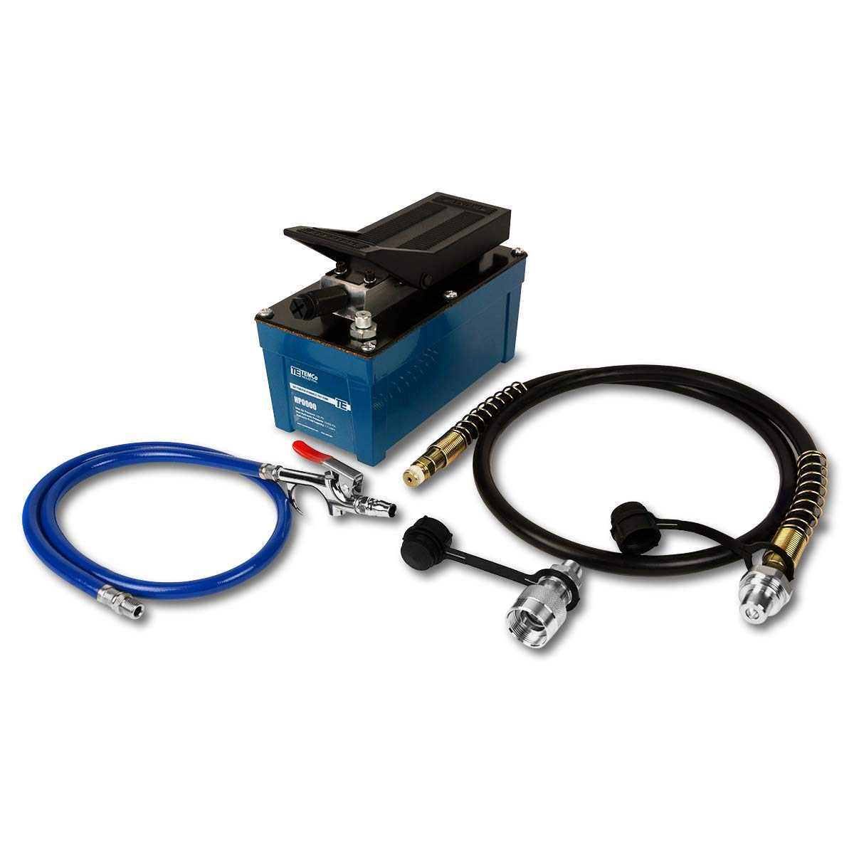 TEMCo HP0000 - Air Hydraulic Pump Power Pack Unit 10,000 psi 103 Cubic in Capacity - 5 Year Warranty