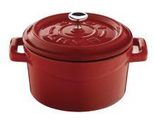 Lava Signature Enameled Cast-Iron Mini Dutch Oven - 12 ounce , Cayenne Red