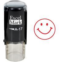 Round Teacher Stamp - Smiley FACE 1 - RED Ink