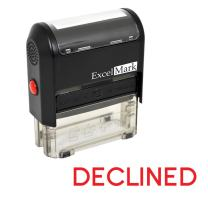 DECLINED Self Inking Rubber Stamp - Red Ink (ExcelMark A1539)