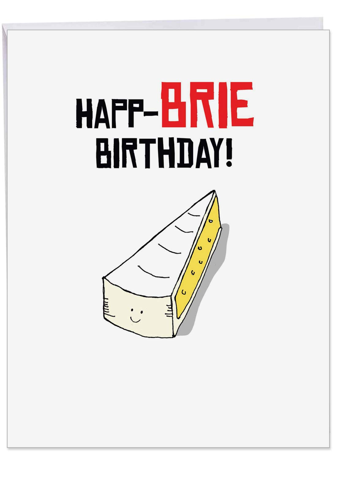 Birthday Puns E - Funny Happy Birthday Card with Envelope (Extra Large 8.5 x 11 Inch) - Cheesy Cake Lovers Bday Notecard from Friends, Hilarious Stationery Greeting Card J6119EBDG
