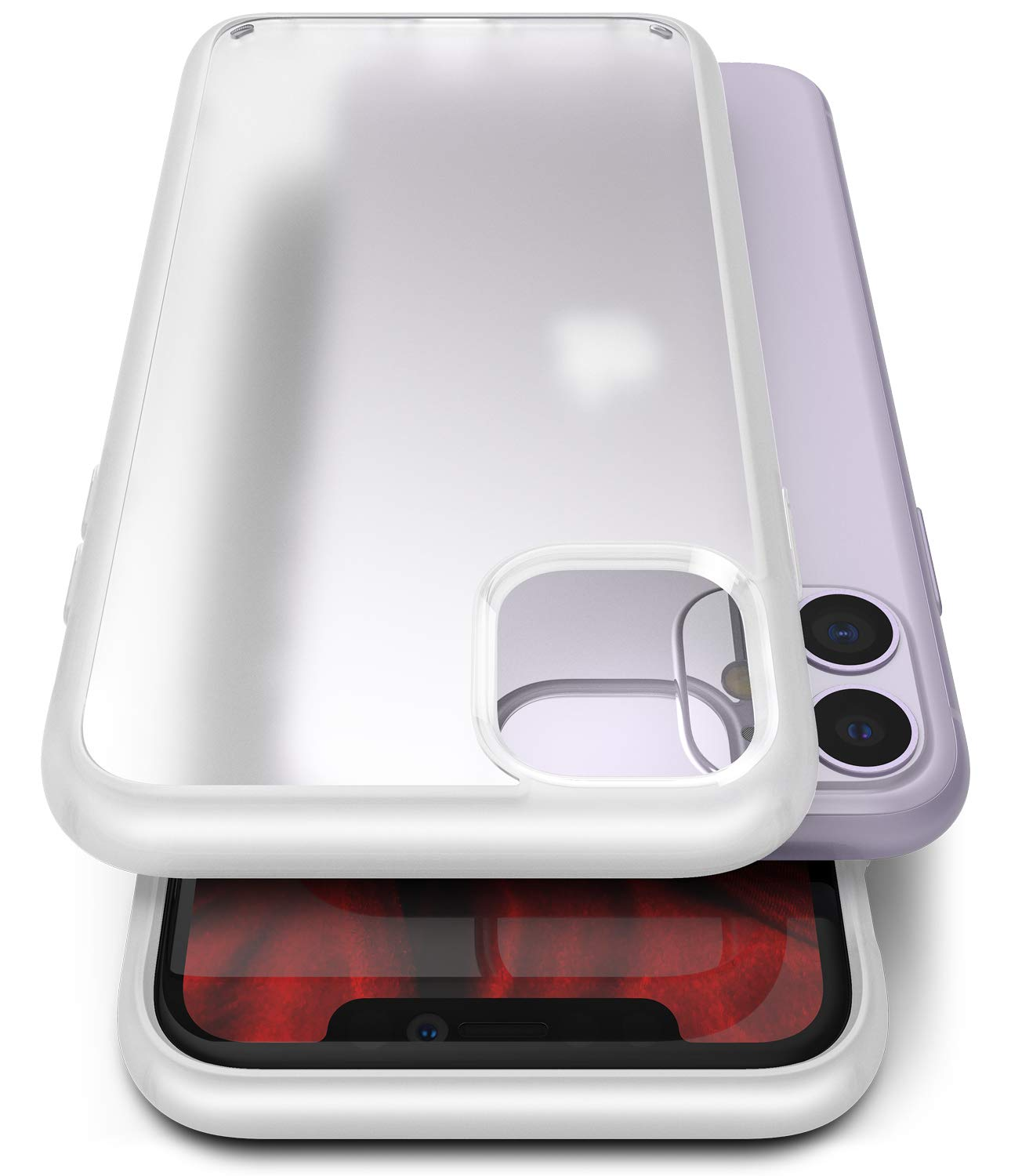 Ringke Fusion No-Smudge Matte Case Designed for iPhone 11, Anti-Fingerprint Frosted PC Case for iPhone 11 - Frost White