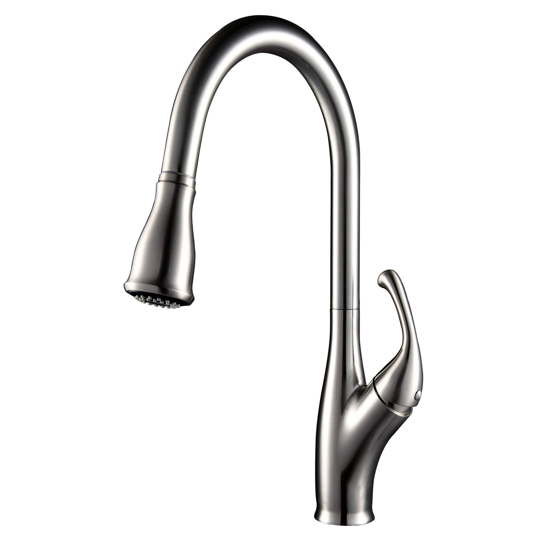 Single Handle Kitchen Sink Faucet with 2 Function Pull Down Spray for Deck Bar-Brushed Nickel