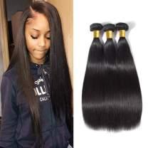 Brazilian Straight Hair Bundles 14 16 18 Inch Unprocessed Human Hair Straight Brazilian Virgin Hair Extensions Natural Color