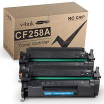 v4ink Compatible Toner Cartridge Replacement for HP 58A CF258A Toner to use for HP Laserjet Pro M404dn M404n M404dw, Laserjet Pro MFP M428fdw M428fdn M428dw, M304 Printer 2 Pack Black Without chip